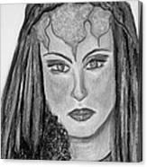 Mirabella Black White Canvas Print