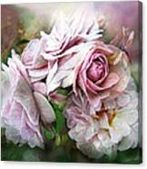 Miracle Of A Rose - Mauve Canvas Print
