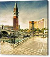 Mirage And The Venitian  Canvas Print
