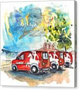 Miranda Do Douro Post Cars Canvas Print