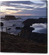 Mirror At Glass Beach Canvas Print
