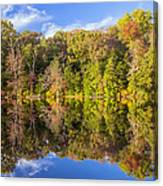 Mirror Reflections Of Fall Canvas Print