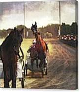 Misbehaving After Warm-up Canvas Print