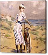 Miss Bicycle 1894 Canvas Print