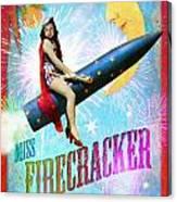 Miss Fire Cracker Canvas Print