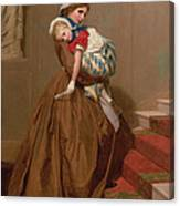 Miss Lilys Return From The Ball, 1866 Canvas Print