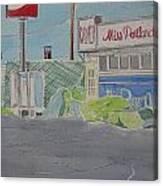 Miss Portland Diner Canvas Print