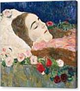 Miss Ria Munk On Her Deathbed Canvas Print