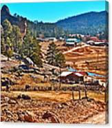 Mission Cusarare Tarahumara Village In Chihuahua-mexico  Canvas Print
