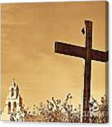 Mission In Sepia Canvas Print