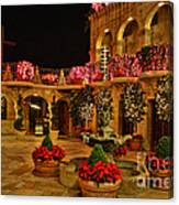 Mission Inn Christmas Chapel Courtyard Canvas Print