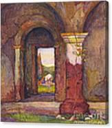 Mission Of San Juan Capistrano By Rowena Meeks Abdy 1887-1945  Canvas Print