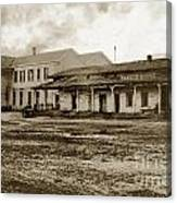 Mission San Francisco De Asis Mission Dolores And Mission House Calif. 1880 Canvas Print