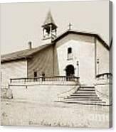 Mission San Luis Obispo Circa 1890 Canvas Print