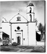 Mission San Luis Rey Bw Blue Canvas Print