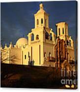 Mission San Xavier Del Bac Last Light Canvas Print