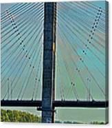 Mississippi River Bridge At Cape Girardeau Mo  Canvas Print