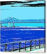 Mississippi River Bridge Poster Canvas Print
