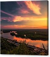 Mississippi River Evening Canvas Print