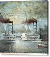 Mississippi River Race, C1859 Canvas Print