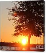 Mississippi Sunset 1 Canvas Print