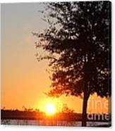 Mississippi Sunset 4 Canvas Print