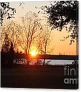 Mississippi Sunset 9 Canvas Print