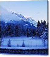 Mist Over Alps Canvas Print