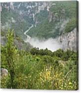 Mist Over Grand Canyon Du Verdon  Canvas Print