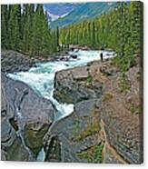 Mistaya Canyon Along Icefield Parkway In Alberta Canvas Print