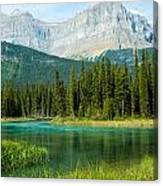 Mistaya River And Mountains Canvas Print