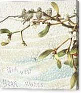 Mistletoe In The Snow Canvas Print