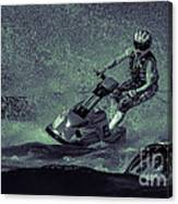 Scary Split-second At Sixty Mph Canvas Print