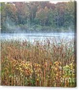 Misty Autumn Morning Canvas Print