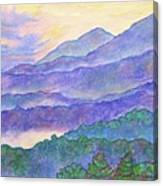 Misty Blue Ridge Canvas Print
