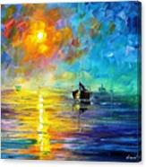 Misty Calm - Palette Knife Oil Painting On Canvas By Leonid Afremov Canvas Print