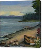 Misty October Puget Sound Canvas Print