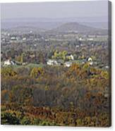 Misty Fall Pano Of The Shenandoah Valley Canvas Print