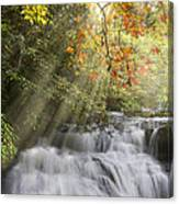 Misty Falls At Coker Creek Canvas Print