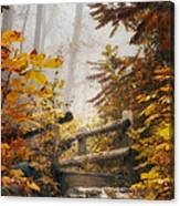 Misty Footbridge Canvas Print