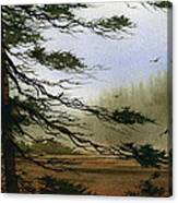 Misty Forest Bay Canvas Print