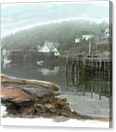 Misty Harbor Canvas Print