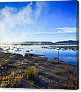 Misty Lagoon Canvas Print