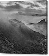 Misty Morning At Great Wall Canvas Print