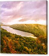 Misty Morning At Lake Of The Clouds Canvas Print