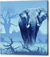Misty Blue Morning In The Tsavo Canvas Print