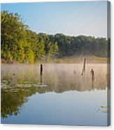 Misty Morning Lake Canvas Print