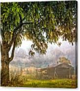 Misty Mountain Barn Canvas Print