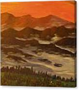Misty Mountain Morning Canvas Print