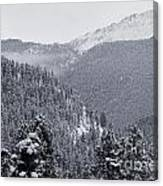 Misty Pikes Peak Canvas Print